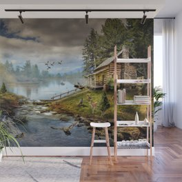 Wildlife Landscape Wall Mural
