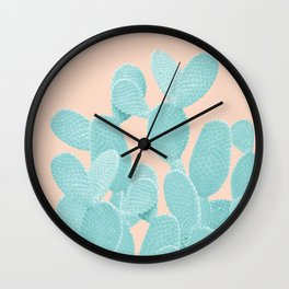 Summer Cactus #1 #succulent #decor #art #society6 Wall Clock