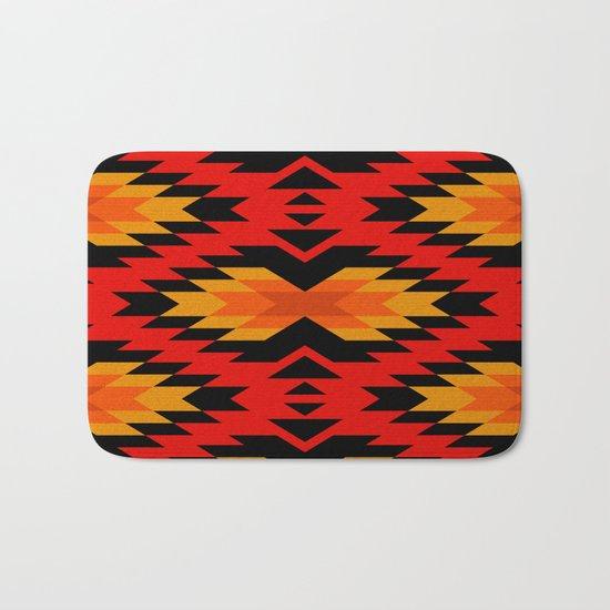 Tribal pattern - red Bath Mat