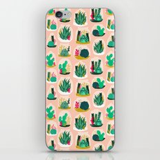 Terrariums - Cute little planters for succulents in repeat pattern by Andrea Lauren iPhone Skin