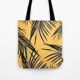 Black Palm Leaves Dream #6 #tropical #decor #art #society6 Tote Bag