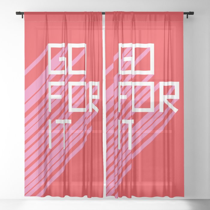 Go For It Sheer Curtain
