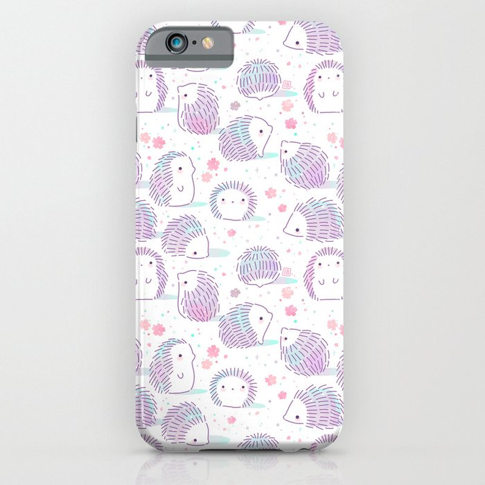 spring hedgehog pattern iphone case