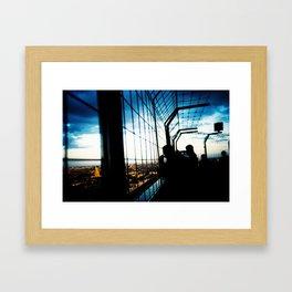 Eiffel Tower Silhouettes Framed Art Print