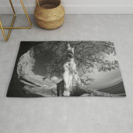 9102-LP Tree of Life Nature Goddess Earth Mother One with the Tree BW Fine Art Nude Rug
