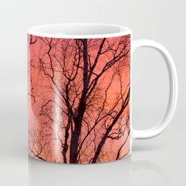 Tree Silhouttes Against The Sunset Sky #decor #society6 #homedecor Coffee Mug