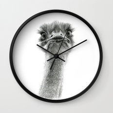 Cute Ostrich SK053 Wall Clock