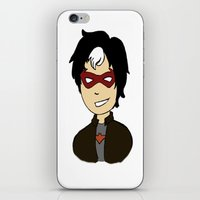 robin hood iPhone & iPod Skins featuring Robin II - Red Hood by Tristan Sites