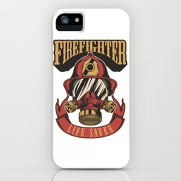 Firefighter life saver iPhone Case