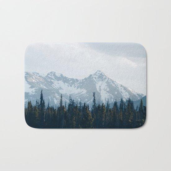 Canadian Mountains -Banff, Alberta Bath Mat