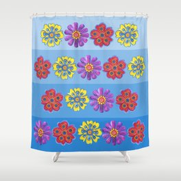 Stacks of Flowers Shower Curtain