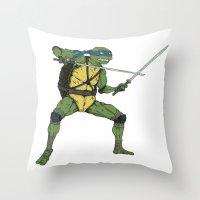 leonardo Throw Pillows featuring Leonardo by Neal Julian