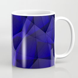 Abstract strict pattern of blue and overlapping fragments and glass lines of irregular shape. Coffee Mug