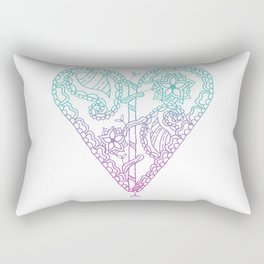 Equanimity / Heart / Pink Blue Rectangular Pillow