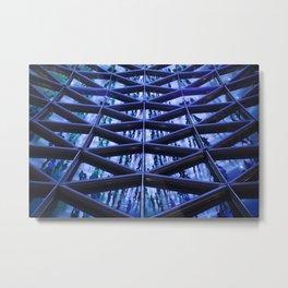 BLUE GLASS ROOF Metal Print