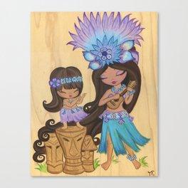 Kaylie Uklele Canvas Print