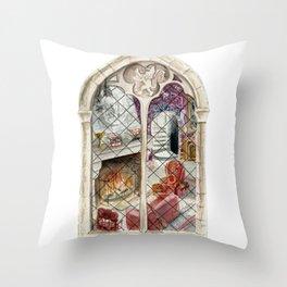 Wizard Window of Bravery Throw Pillow