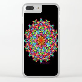 Psychedelic Porcupine Mandala Clear iPhone Case