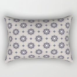 Som do Mar Geometric Portuguese Azulejo Tile Pattern Rectangular Pillow