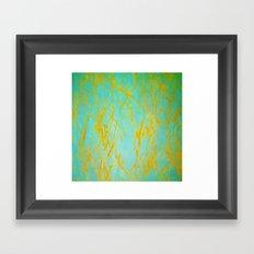 Composition in Blue & Orange Framed Art Print