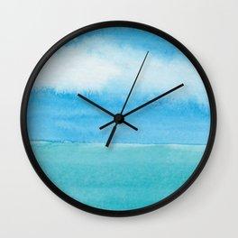 Blue Drift Sky Wall Clock