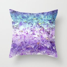 Alexandrite crystal rough cut Throw Pillow
