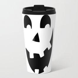 Crazy Jack O'Lantern Face Travel Mug