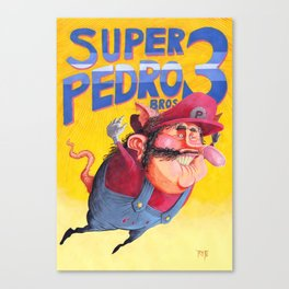 Super Mario Bros 3 / Super Pedro Bros 3 Canvas Print