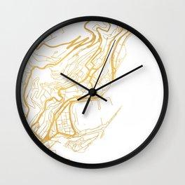 MONACO CITY STREET MAP ART Wall Clock
