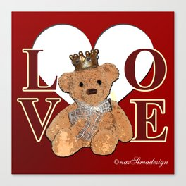 Teddy in Love Canvas Print