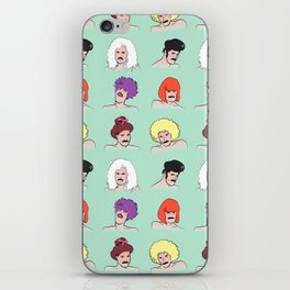 Moustaches and Wigs (pattern) iPhone Skin