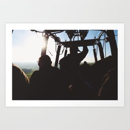 SILHOUETTES IN THE SKY Art Print