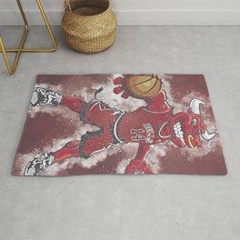 basketball player art 6 Rug