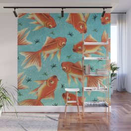 Goldfish Pattern Wall Mural