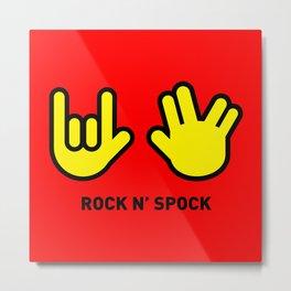 ROCK N' SPOCK Metal Print