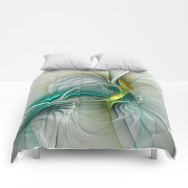 Fractal Evolution, Abstract Art Graphic Comforters