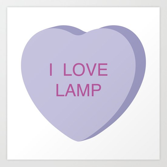 Brick Tamland Conversation Heart Art Print