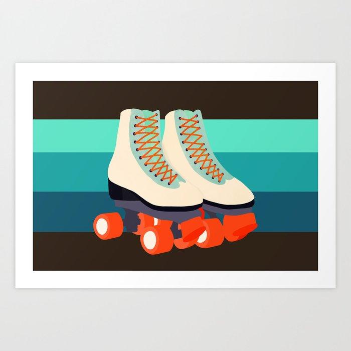 Retro Roller Skates Kunstdrucke