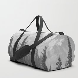 Escape to the Wilds - Black and White Nature Photography Duffle Bag