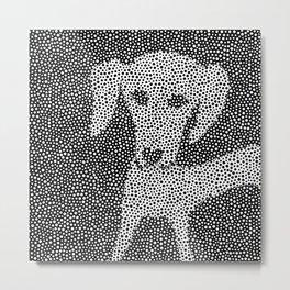 Dalma-Dach Dots Metal Print