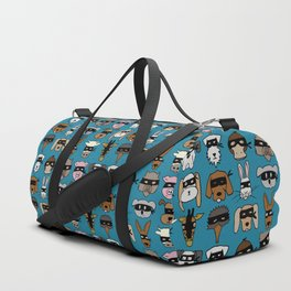 Ninja Animal Gang - Blue Duffle Bag