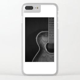 Crafter acoustic B&W Clear iPhone Case