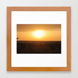 African Sunset Framed Art Print