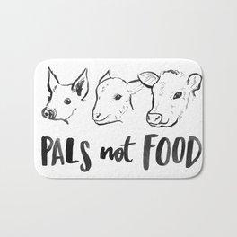Pals Not Food Illustration by Laura Tubb Bath Mat