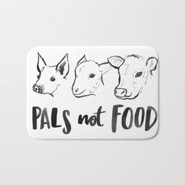Pals Not Food Illustration by Laura Tubb Bath Mat