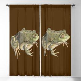 American Bullfrog Watercolor Blackout Curtain