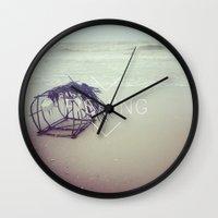 fishing Wall Clocks featuring FISHING by Kath Korth