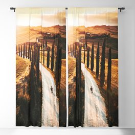 val d'orcia landscape Blackout Curtain