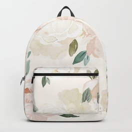 Vintage Blush Floral - softest pastel Backpack
