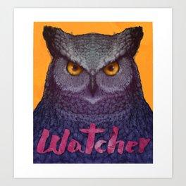 Owl Watcher Art Print